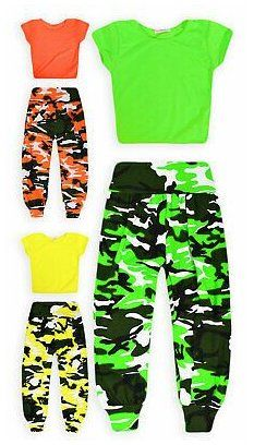 Neon Party Outfits, Camo Outfits, Crop Top Outfits, Hipster Outfits, Dance Outfits, Kids Outfits Girls, Girls Fashion Clothes, Teen Fashion Outfits, Fashion For Girls