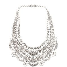 Tom Binns Madame Dumont Crystal Necklace in White (€1.035) ❤ liked on Polyvore featuring jewelry, necklaces, accessories, colar, schmuck, white, crystal necklace, tom binns jewelry, tom binns necklace and crystal jewelry