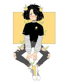 Uh,,,hi sorry for dying I've had bad anxiety and motivation has been low for me to finish much :'V But anyway here's the lemon girl, who… Cartoon Art Styles, Cute Art Styles, Aesthetic Anime, Aesthetic Art, Aesthetic Outfit, Aesthetic Black, Aesthetic Makeup, Arte Sketchbook, Dibujos Cute
