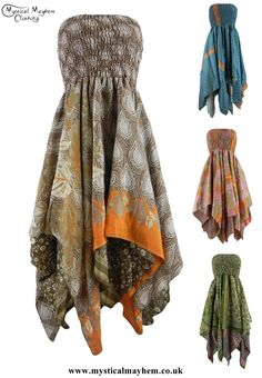 1a1466686d7 Two in One Pixie Hem Recycled Sari Hippy Skirt Dress Archives - Mystical  Mayhem Hippy Clothing and Gifts