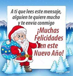 A ti que lees este mensaje, alguien te quiere mucho y te envía conmigo ¡Muchas Felicidades! #AñoNuevo