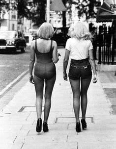 """Hot Pants -- Tight """"short shorts"""" that were launched by Mary Quant in the 1960s but rose to popularity in the early 1970s."""