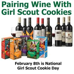 Pairing Wine with Girl Scout Cookies... Sounds like my kind of party 😋