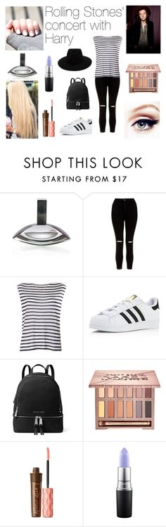 """""""Rolling Stones' concert with Harry"""" by danielle21-styles ❤ liked on Polyvore featuring Calvin Klein, New Look, T By Alexander Wang, adidas, MICHAEL Michael Kors, Urban Decay, Benefit, MAC Cosmetics and rag & bone"""