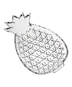 Love this Pineapple Crystal Server on #zulily! #zulilyfinds