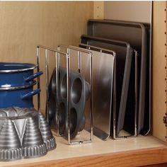 Hafele Kitchen Cabinet Baking Tray Racks | KitchenSource.com  #kitchensource #pinterest #followerfind