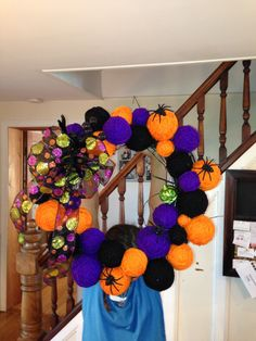 Halloween Wreath made by Alison