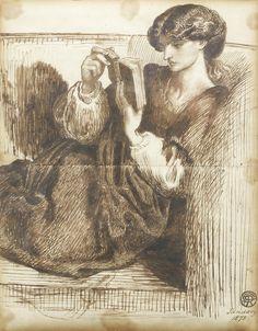 Portrait of Jane Morris, 1873, Dante Gabriel Rossetti