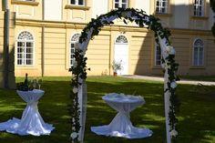 Svatební oblouk (brána) - - Obřad Fountain, Arch, Outdoor Structures, Garden, Outdoor Decor, Wedding, Home Decor, Valentines Day Weddings, Longbow