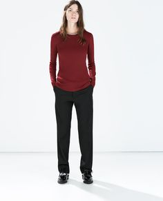 ZARA - NEW THIS WEEK - SWEATER WITH CHAIN NECKLINE