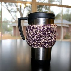 Coffee Cozy in Purple and Gold perfect for your by TwigsandStrings, $4.00