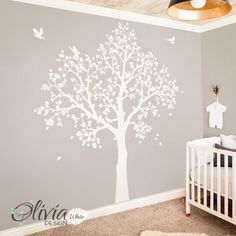 Wall decals are quicker, easier, and less expensive than painting. Our wall mural decals look painted on once installed. Plus, you can remove our baby nursery wall decal at any time!   Please specify your preferred colors in message box in checkout. If colors are not specified decal will be sent as shown in first listing picture.   [REVERSE CUT]  Want the decal reversed? Leave a note at checkout that you would like the decal cut in reverse.  The decal comes in separate pieces/ parts, so ...