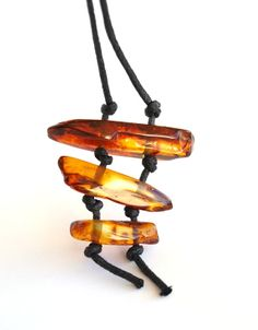 Ethno style Unique Baltic Amber Pendant Necklace