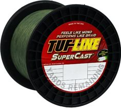 Tuf-Line SuperCast 2500-Yard Braided Fishing Line, Green, 30-Pound >>> Check out this great product.