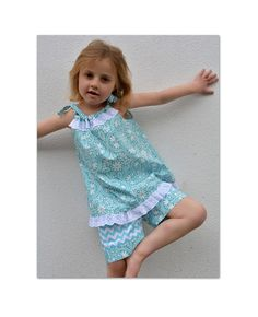 Peachy Dress & Playsuit sewing pattern girls by FelicityPatterns