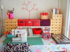 Ideias para Organizar seu Quarto de Costura (35 Fotos) - Toda Atual
