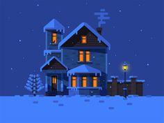 Winter House by Nutsa Avaliani | dribbble