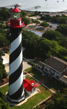 Visitors are allowed to climb the tower of the St. Augustine Lighthouse in Florida. Another great shot of the area.
