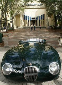 1953 jaguar C-Type--Cars on 5th Avenue in Naples, FL