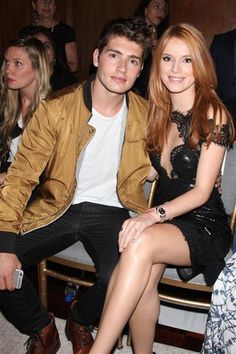 Aw, young love! Gregg Sulkin and Bella Thorne stayed close and got handsy at the Marchesa show during Spring/Summer 2016 presentations at New York Fashion Week on Sept. 16, 2015.