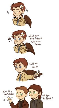 Castiel will mess you up.