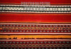 QATAR : Bedouin weaving , National Museum , Doha stock photo