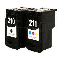 Canon PG-210XL + color (XL) generic printer ink (2 set) Printer Ink Cartridges, Canon Ink, 2 Set, Color, Colour, Colors