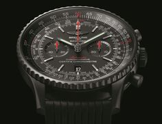 The new Breitling Navitimer 46 Blacksteel watch will mesmerize you with a black carbon steel case, measuring 46 mm, and pure awesomeness.