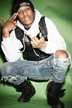 ASAP rocky. I have the biggest crush on this guy.