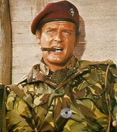 Roger Moore - Lt. Shawn Fynn, The Wild Geese (1978)