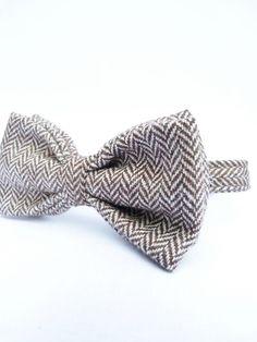 Italian Herringbone Tweed Bowtie