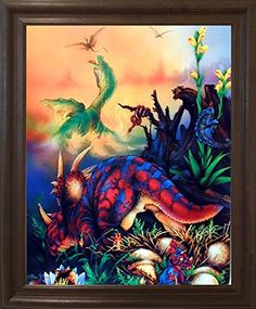 Triceretops Dinosaurs Kids Room Wall Decor Brown Rust Fra... https://www.amazon.com/dp/B00H9AD57E/ref=cm_sw_r_pi_dp_x_SBKmzbC8F1C7P