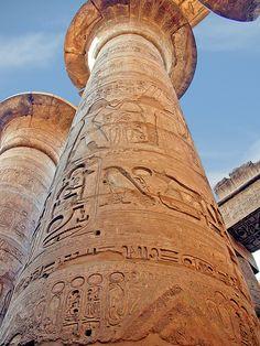 Pillar at Karnak Temple, Luxor, Egypt
