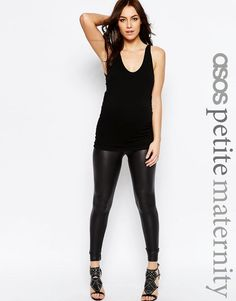 Leggings fit so much better than maternity pants. Plus these are a fun sheen and texture in classic black ;)
