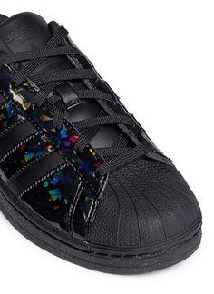 adidas superstar black holographic