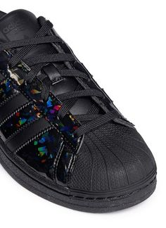 adidas superstar black shiny
