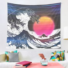 """""""Great Retro Wave """" Tapestry by ind3finite 