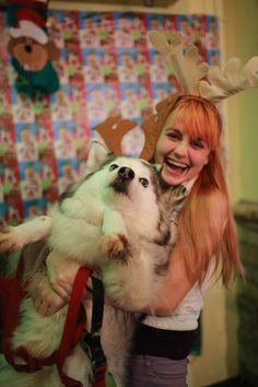 I tried to take a cute christmas photo holding my dog... http://ift.tt/2293Wyp