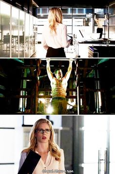 Felicity, Oliver & Ray #Arrow #DrawBackYourBow