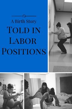 A photo essay with explanations for a labor where the mother used a lot of labor positions. The birth births are amazing.