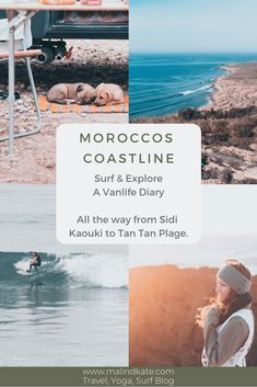 Moroccos coastline has it all - from the touristy places like Taghazout to the little up and coming spots like Sidi Kaouki and Imsouane. The South is still a hidden treasure and worth the drive down. Read everything about the Coastline of Morocco all the way down to Tan Tan Plage here in this Blogpost! Budget Travel, Travel Ideas, Work Abroad, Urban City, All The Way Down, Best Budget, Van Life, All Pictures, Morocco