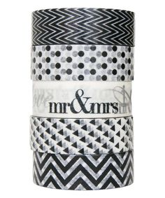 Look at this Black Five-Piece Tie Affair Washi Tape Set on #zulily today!