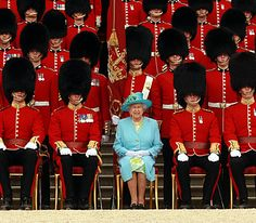 The Queen at a Garden Party for the Grenadier Guards