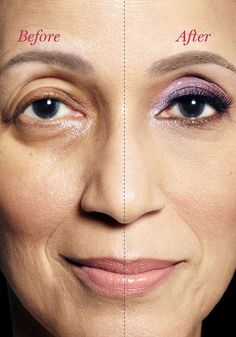 <img> Whether you've got bags, dark circles or droopy lids, Oprah's makeup artist, Derrick Rutledge, can help you see your way to prettier peepers. Makeup For Droopy Eyelids, Saggy Eyelids, Drooping Eyelids, Droopy Eyes, Hooded Eye Makeup, Hooded Eyes, Dark Circles Makeup, Makeup Tips For Older Women, Beauty Over 40