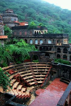 Neemrana Fort Palace in Rajasthan, India.