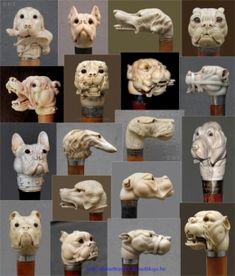 Journée mondiale du chien, cannes, ivoire, chien, collection, têtes,