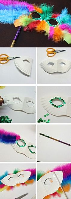 Feathery Mask | Click Pick for 17 DIY Mardi Gras Party Decorations Ideas | Mardi Gras Party Ideas for Adults