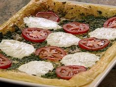 The Neely's Caprese Tart from FoodNetwork.com.....my favorite combo