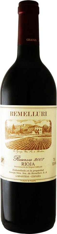 Remelluri Reserva 2007 (Rioja) 94 RP   8/10 very very nice wine