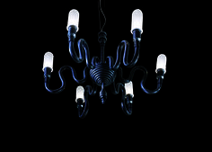 Chandelier design by Peter Lunetta | Wall lamp in special coloured rubber with kit for outdoor | #light4 #design #lamp